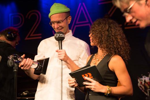 Vinnare P2 Jazzkatten 2015 Årets kompositör - Nils Berg  Foto: Micke Grönberg/Sveriges Radio