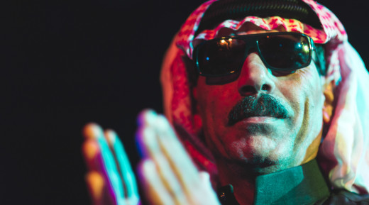 Omar Souleyman performed during NPR Music's showcase at Le Poisson Rouge in New York City on Wednesday, Oct. 16.