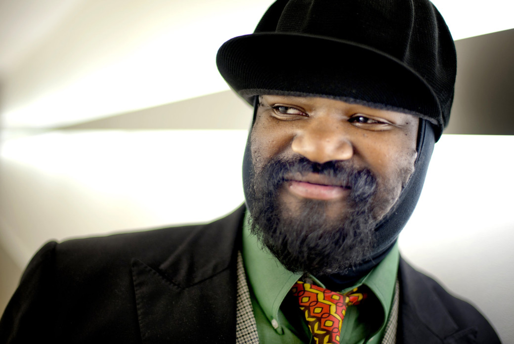 Nederland, Rotterdam, 16-02-2012. Portret van jazz vocalist Gregory Porter in de gangen van Lantaren Venster. Foto: Andreas Terlaak