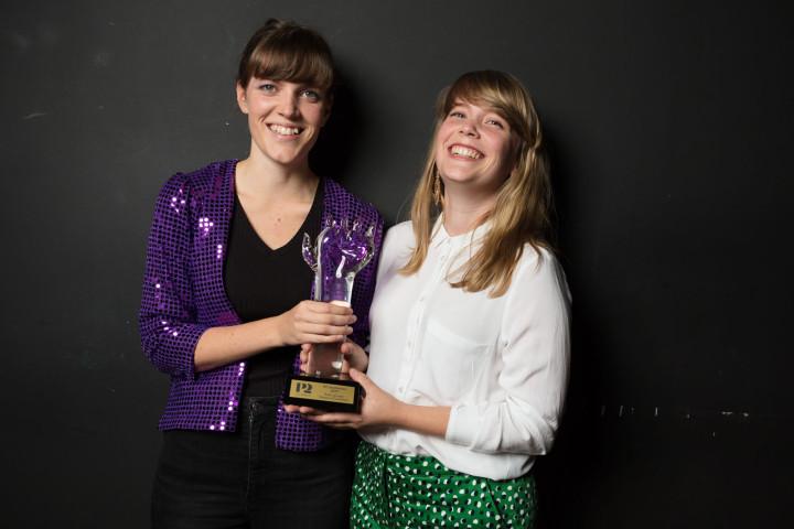 P2 Jazzkatten 2017 Årets grupp Sisters of Invention (Karolina & Malin Almgren) foto: Mattias Ahlm/Sveriges Radio
