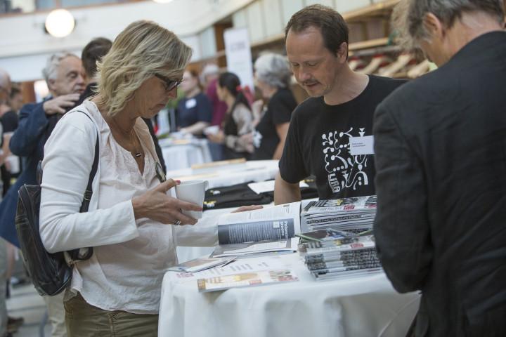 Under lördagens var det även en mässa med utställare –däribland Lira som tog chansen att hitta nya läsare!