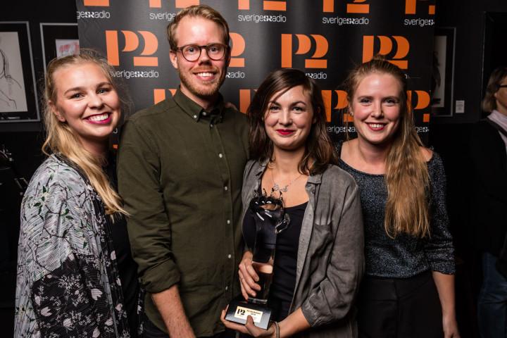 P2 Jazzkatten 2018  Årets grupp: We float Prisutdelare: Isabella Lundgren Programledare: Bo SundströmP2 Sveriges Radio Foto: Mattias Ahlm/Sveriges Radio
