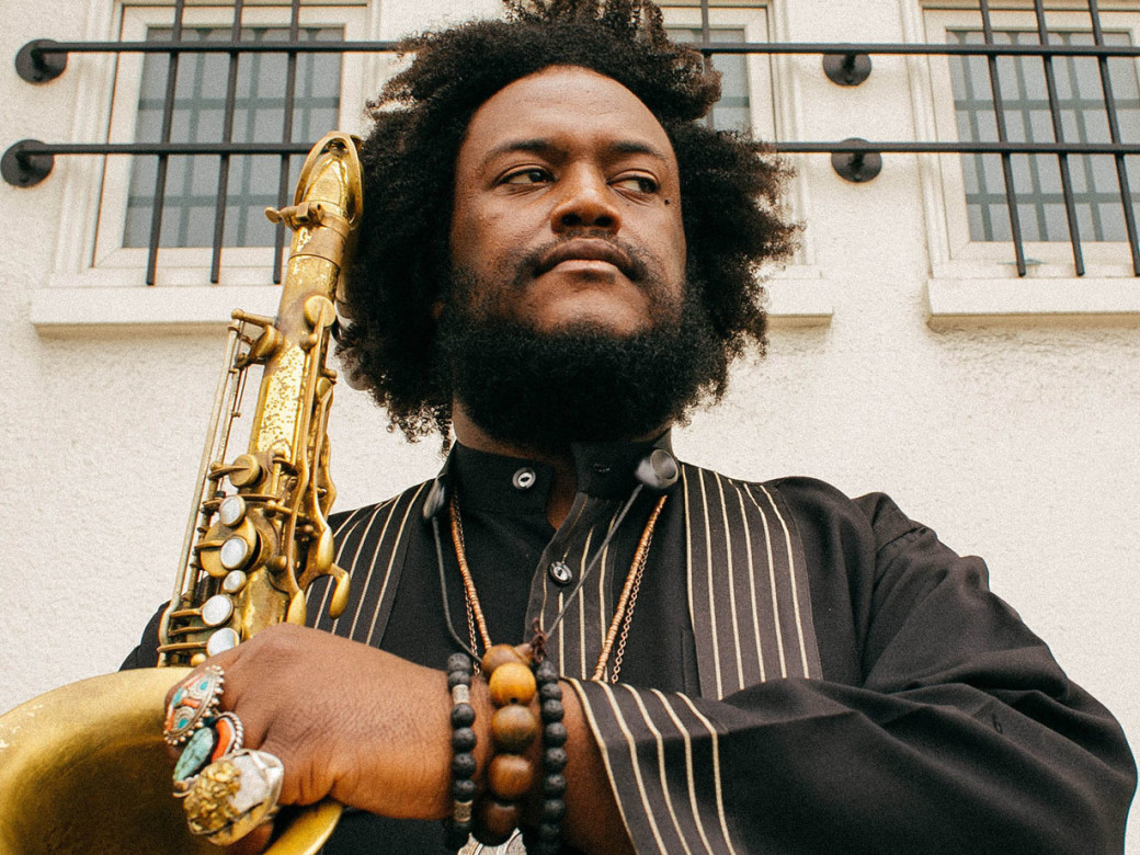 Kamasi Washington press image from  Janice Wang